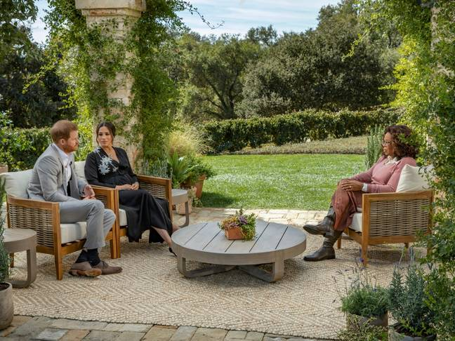 The Duke and Duchess of Sussex sat down for an interview with Oprah Winfrey (Credit: CBS)