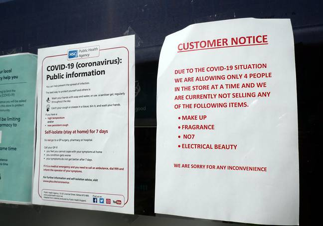 The UK's high streets remain closed with only 'essential' businesses still running (Credit: PA)