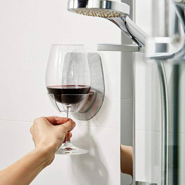The wine holder is just £9.99 on Amazon (Credit: Amazon)