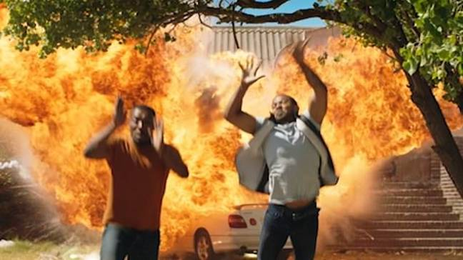 Noel Clarke and Ashley Walters do most of their own stunts (Credit: Sky)