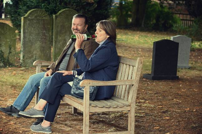 After Life returns to Netflix on 24th April 2020, bringing six new episodes to the streaming platform (Credit: Netflix)