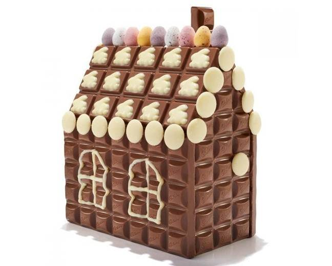 Decorate and build your Cadbury cottage yourself (Credit: Cadbury)