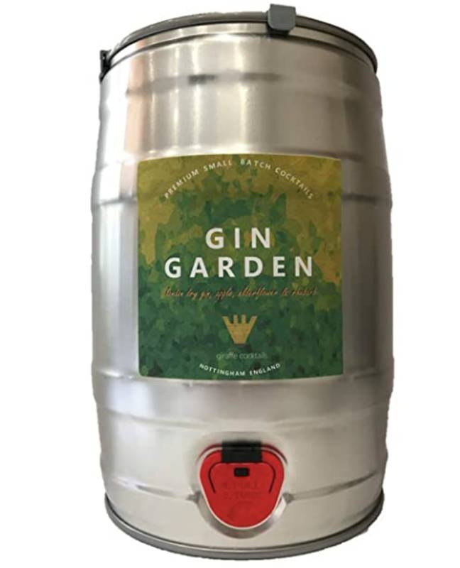 A keg of flavoured gin is also available (Credit: Giraffe Draught Cocktails)