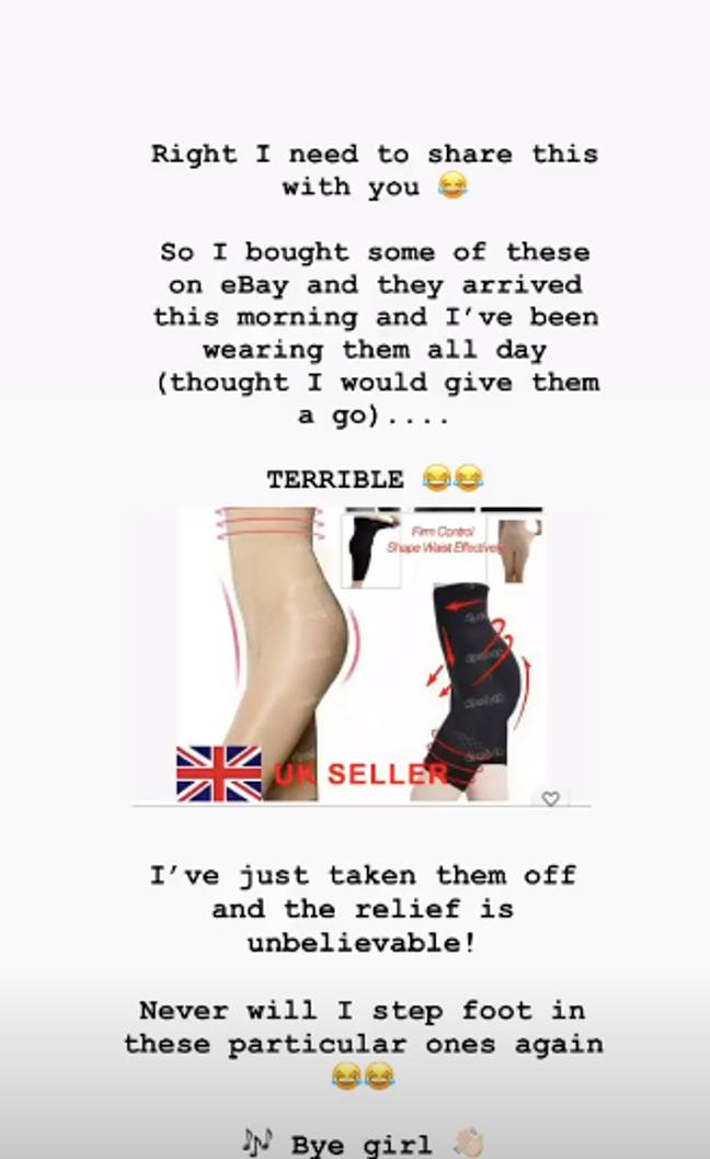 Mrs Hinch got honest about shapewear on her stories (Credit: Instagram/ Mrs Hinch Home)