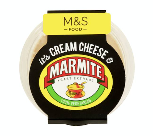 Marmite cream cheese launches today (Credit: M&S)