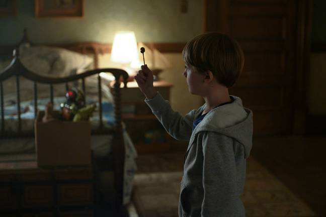 A demon is disturbed by the children's exploring and soon begins to haunt their every move (Credit: Netflix)