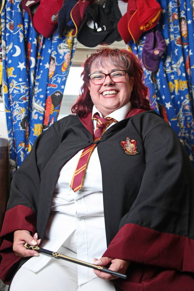 Tracey could be the world's biggest 'Harry Potter' fan (Credit: Caters News)