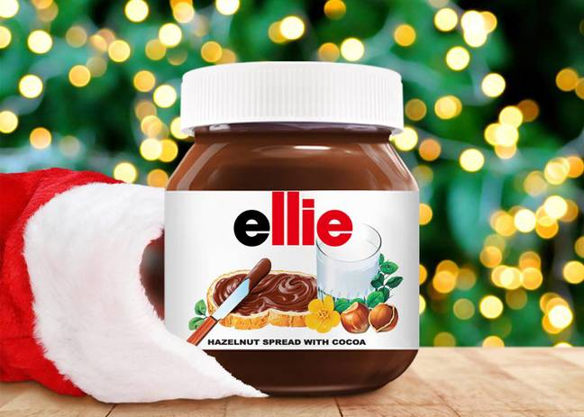 Debenham's is selling the personalised jars of Nutella. (Credit: Nutella)