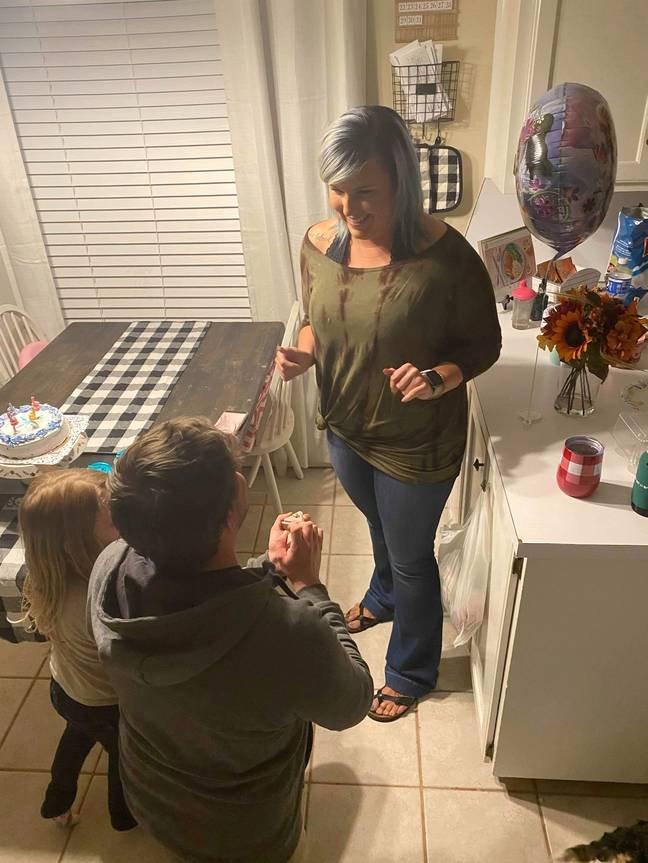 Adam proposed for real six months later (Credit: Caters News Agency)