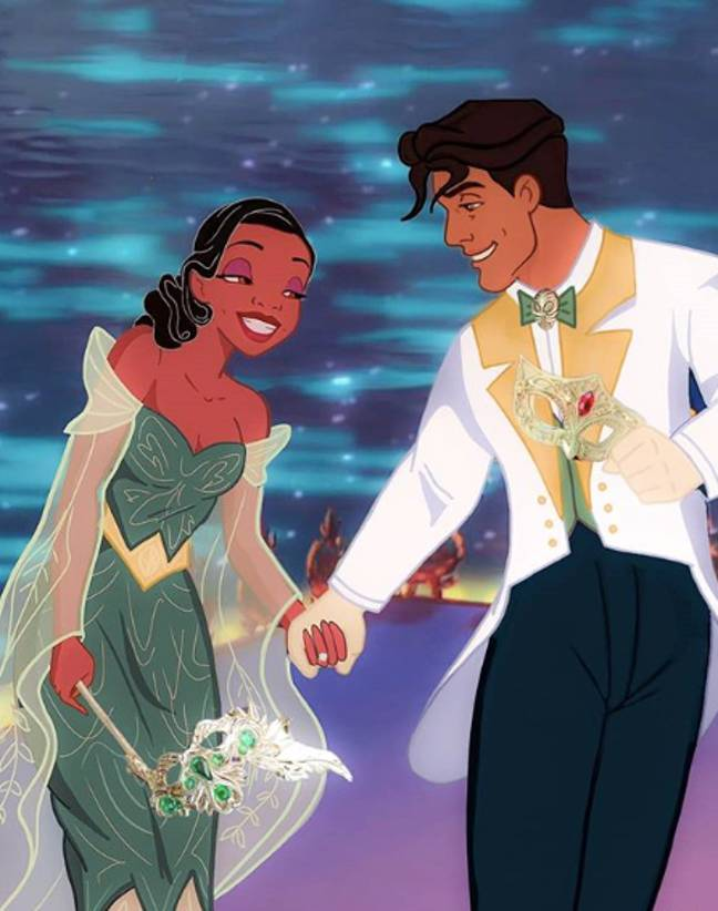 Princess Tiana and Naveen (Credit: Instagram/wecallitdisney)