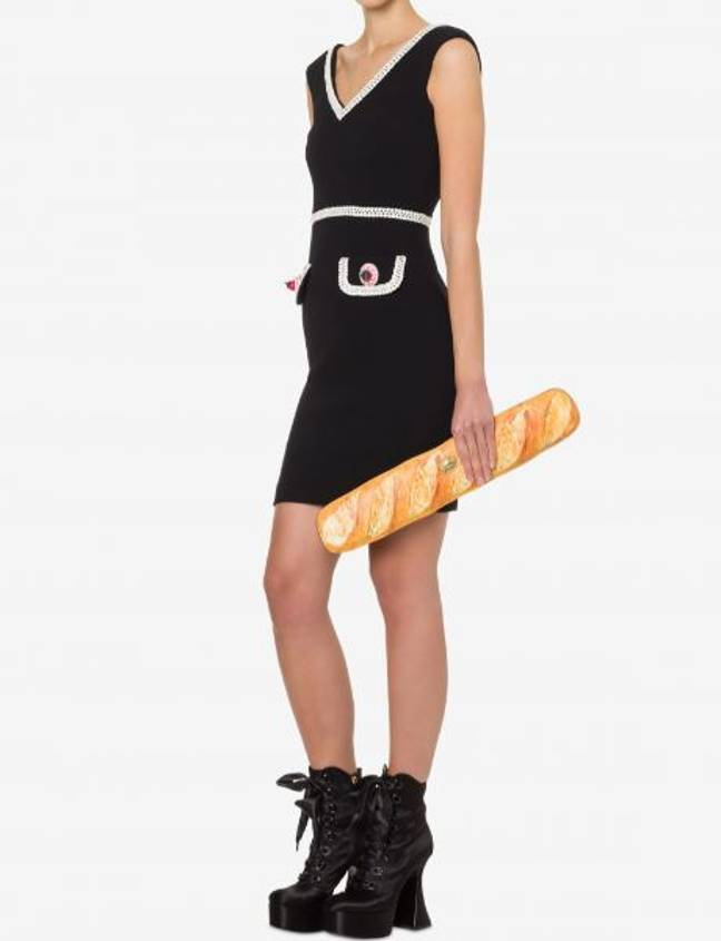 The baguette bag is certainly a look... (Credit: Moschino)