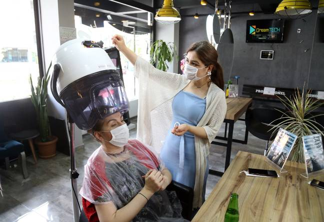 Salons will operate with new safety measures (Credit: PA)
