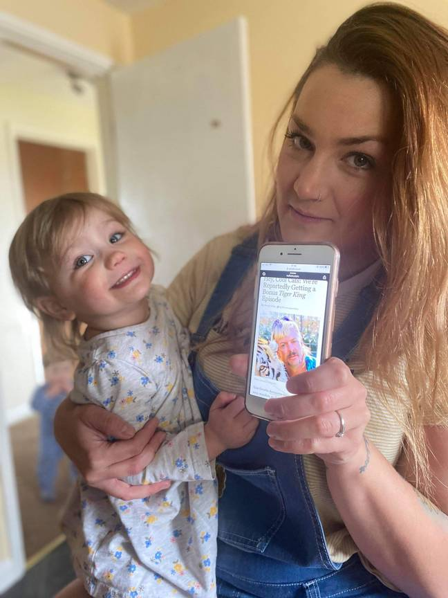 Mylee and mum Laura-Michelle (Kennedy News and Media)