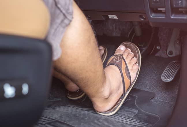 Flip flops can get stuck under the pedals (Credit: Shutterstock)