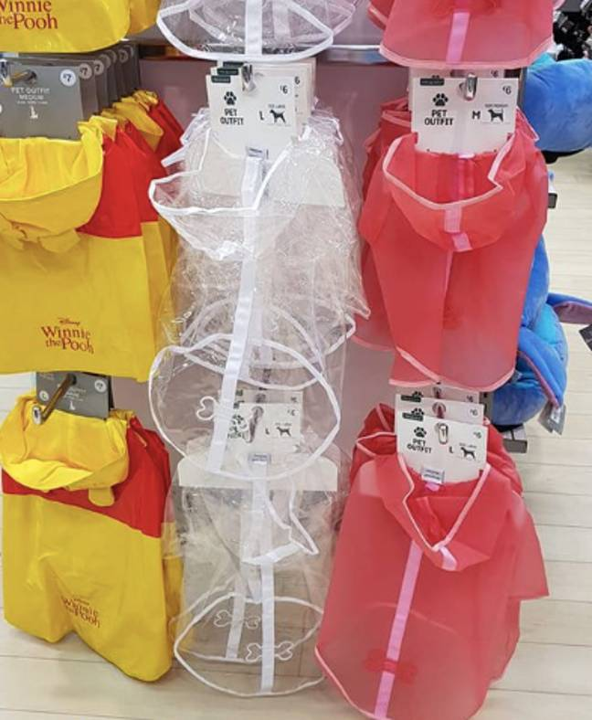 Primark is selling adorable dog rain coats (Credit: Facebook/Extreme Couponing and Bargains UK)