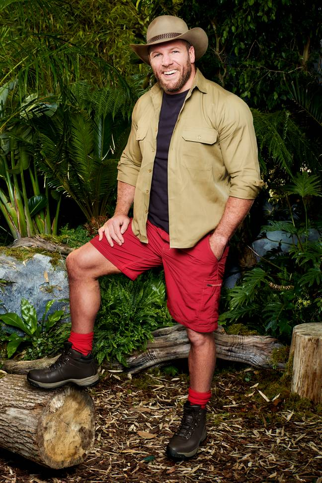 Former England rugby player James will 'try' his hand in the jungle. (Credit: ITV)