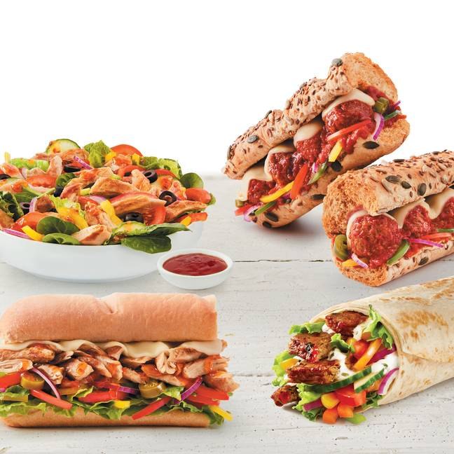 The new items are perfect for Veganuary (Credit: Subway)