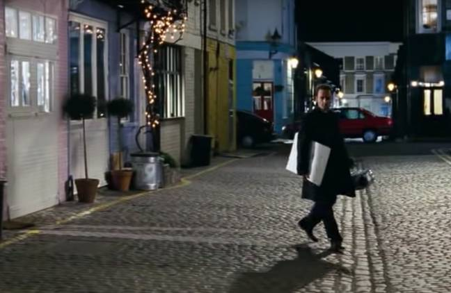 You see the street in full when Mark walks away (Credit: Universal)