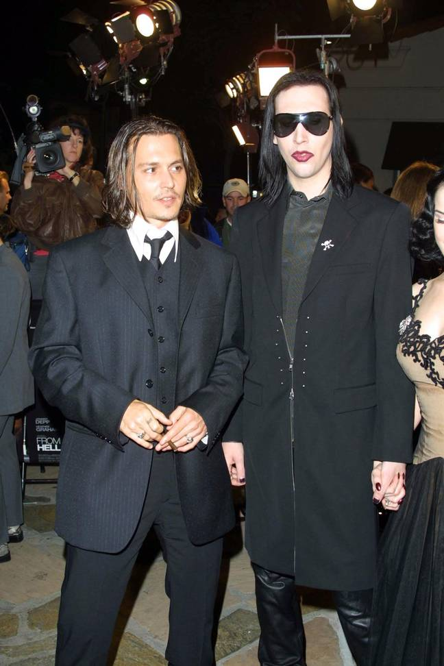 Depp and Manson are close friends (Credit: Shutterstock)