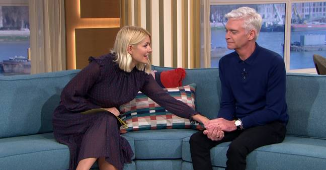 Holly Willoughby comforted an emotional Phil (Credit: ITV)