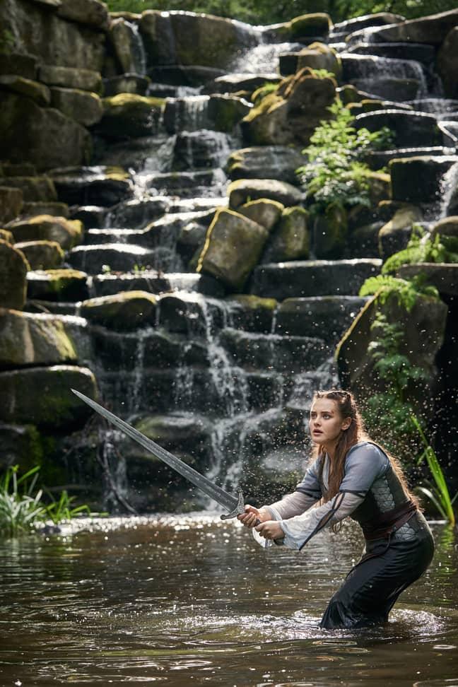 It stars Katherine Langford as Nimue (Credit: Netflix)