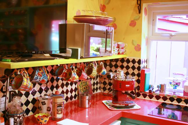 What a kitchen! (Credit: Caters)