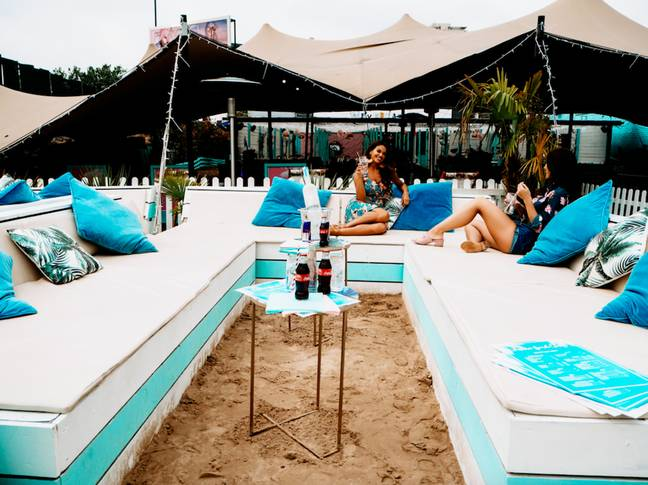 Enjoy a relaxed afternoon with your friends at Fulham Beach (Credit: Neverland London)