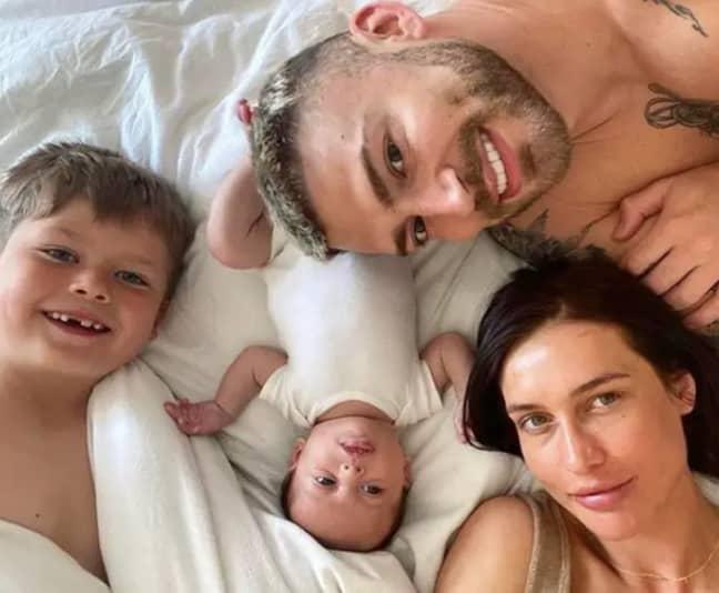 Jake, Leo, Sophie and her son, Freddie (Credit: Instagram)