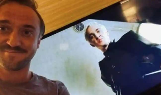Tom Felton watched himself on screen (Credit: Instagram/ Tom Felton)