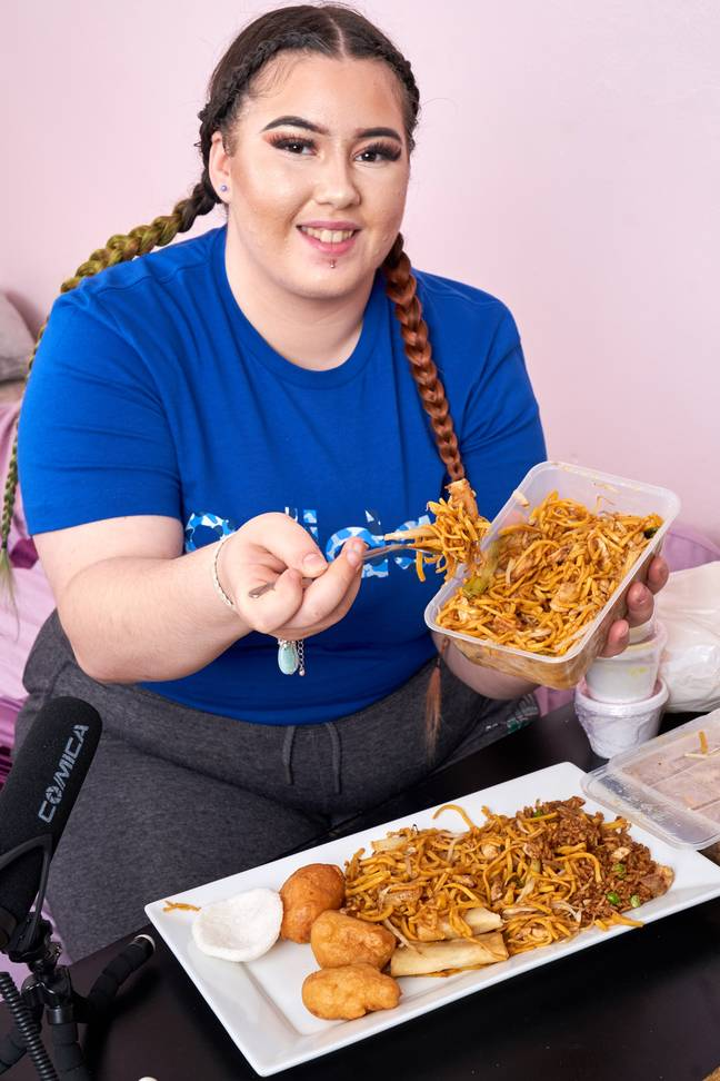 Charna is inspired by South Korean Mukbang (Credit: Caters)