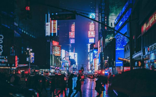 A 'virtual' Times Square has been created so users can celebrate New Year from anywhere in the world (Credit: Pexels)