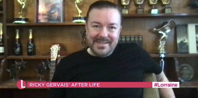 Ricky Gervais said After Life would start filming in April (Credit: Netflix)