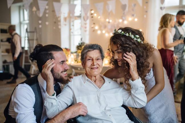 The bride-to-be said that she doesn't want the 98-year-old grandmother at the wedding reception (Credit: Shutterstock)