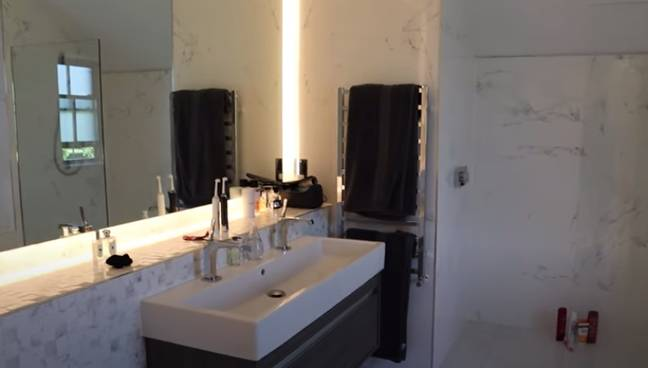 We've been given sneak peaks of the bathroom over the last few weeks (Credit: Molly-Mae Hague/YouTube)