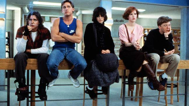 The Breakfast Club sees five high school students from different social cliques get thrown together in Saturday detention (Credit: Universal Pictures)