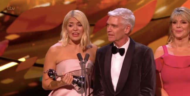 The presenting duo won an NTA last night (Credit: ITV)