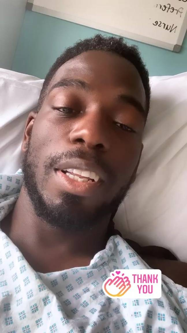 Marcel revealed he had been rushed to hospital (Credit: Marcel Somerville/Instagram)