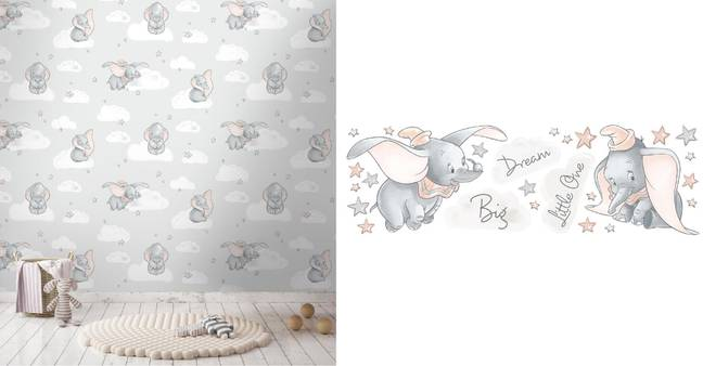 Wall Stickers (£11.20) and Wallpaper (£11.20 per roll) (Credit: Dunelm)