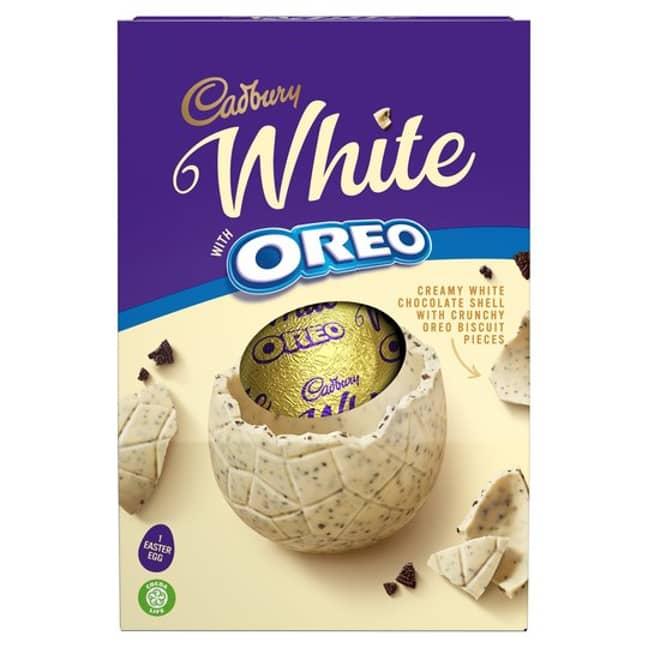 Cadbury's white chocolate Oreo Easter egg (Credit: Tesco)