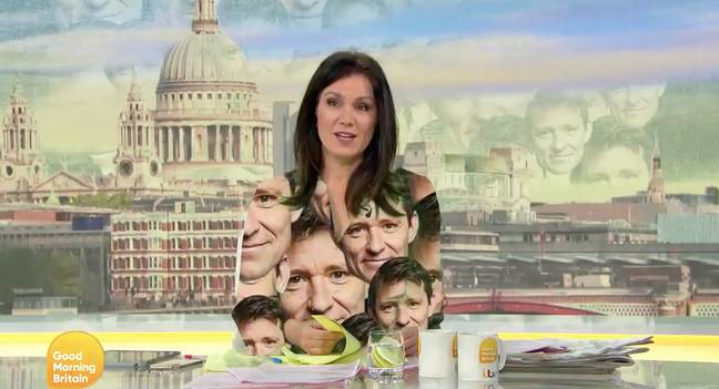 Susanna's dress was replaced with Ben's face (Credit: ITV)