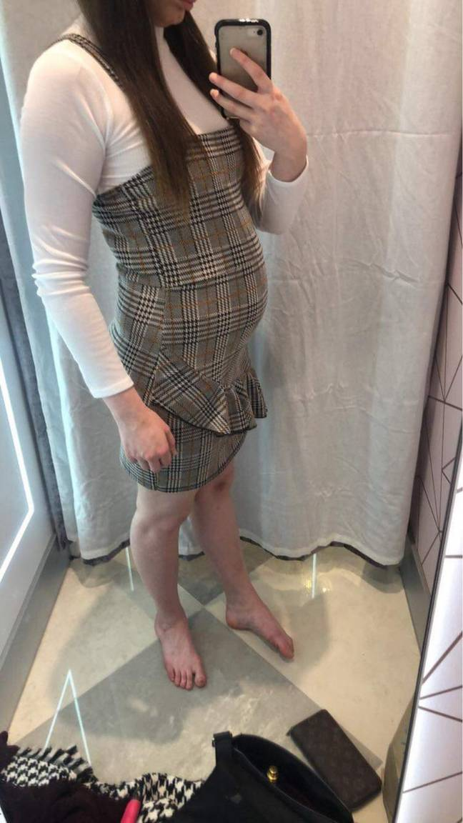 Abbie says she often gets mistaken for being pregnant (Credit: Caters News)
