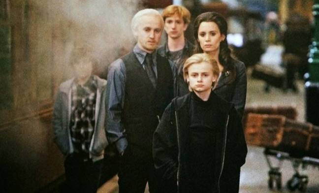 Draco's wife was his IRL girlfriend at the time of filming (Credit: Warner Bros)
