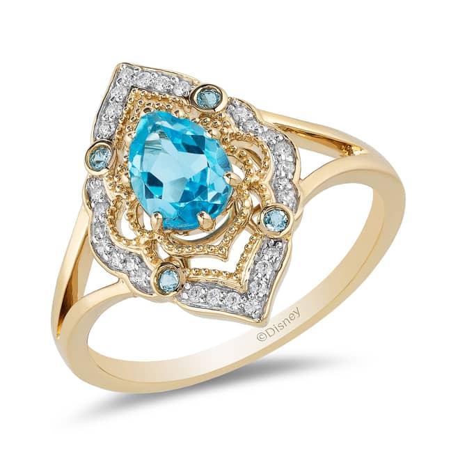 Enchanted Disney 9ct Gold Diamond Ring Inspired by Disney Aladdin - £699. Credit: H. Samuel