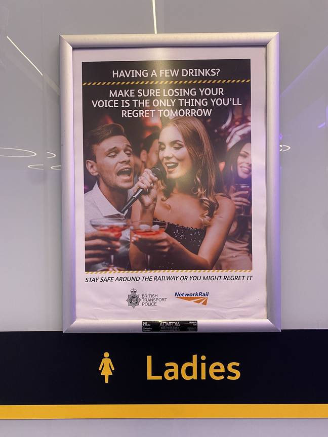 Fleur found the poster at King's Cross station in London (Credit: Kennedy)