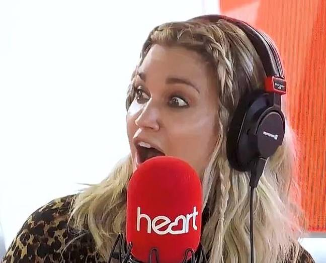 Showbiz Reporter Ashley Roberts, 39, was visibly impressed by Amanda's impersonation (Credit: Heart FM)