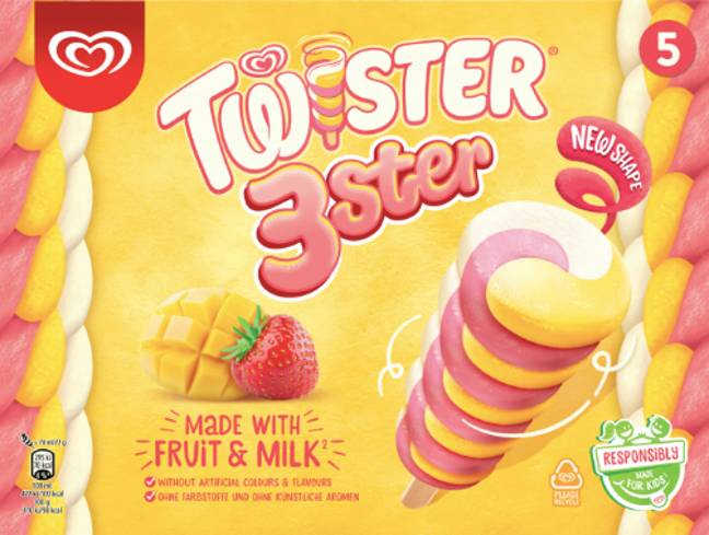 The strawberry, vanilla and mango lollies launched in March (Credit: Nestle)