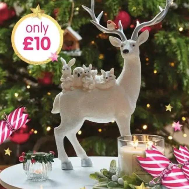 The reindeer in question is worth £10 (Credit: B&M STORES BARGAINS AND MORE/FACEBOOK)