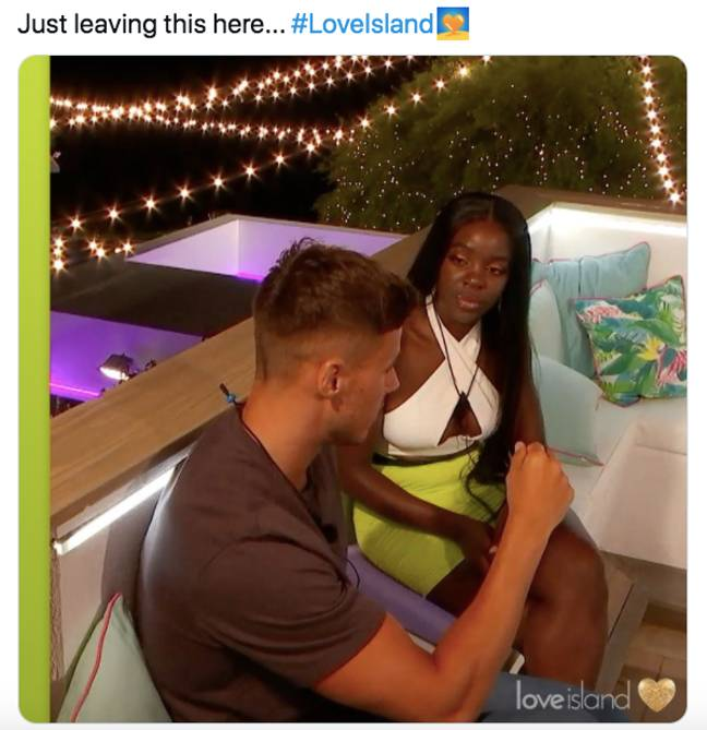What were they talking about? (Credit: Twitter/Love island)