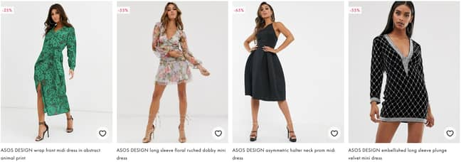 It's currently being trialled on 800 different dresses (Credit: ASOS)