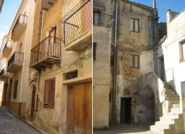 Two of the homes on offer. Credit: Comune di Sambuca di Sicilia